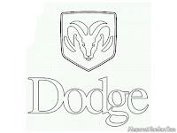 Mewarnai gambar logo mobil Dodge