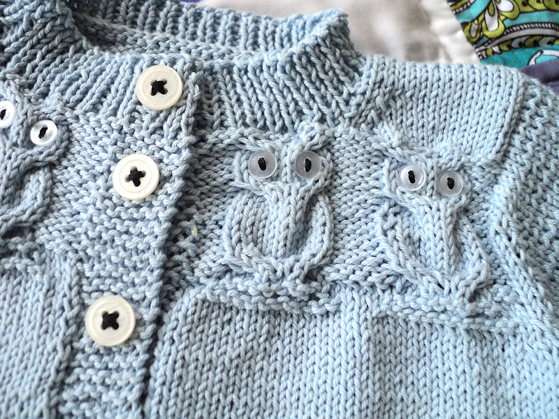 Baby Owlet Sweater And A Baby Quilt Knitionary