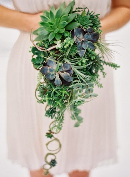 brudbukett suckulent, grön brudbukett, brudbukett bara grönt, green wedding bouquet, succulents wedding bouquet, wedding bouquet only succulemts