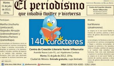 """Ciclo #140cc presenta """"El periodismo invadió Twitter y viceversa"""" en el CCLXV"""