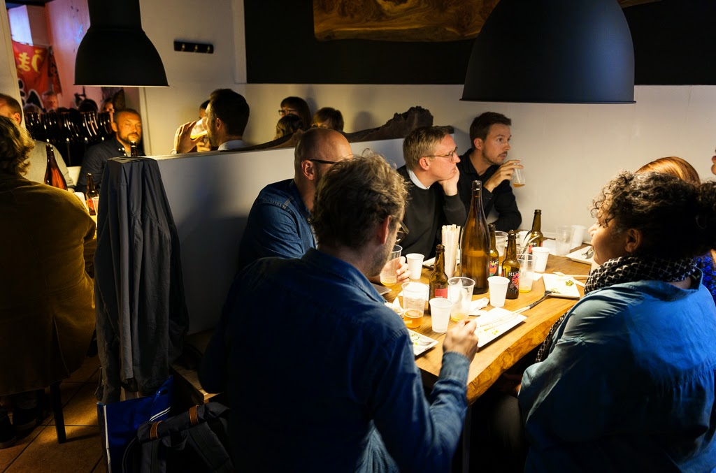 Dinner Guests at Jesse Koide's Pink Zebra SF pop-up in Copenhagen