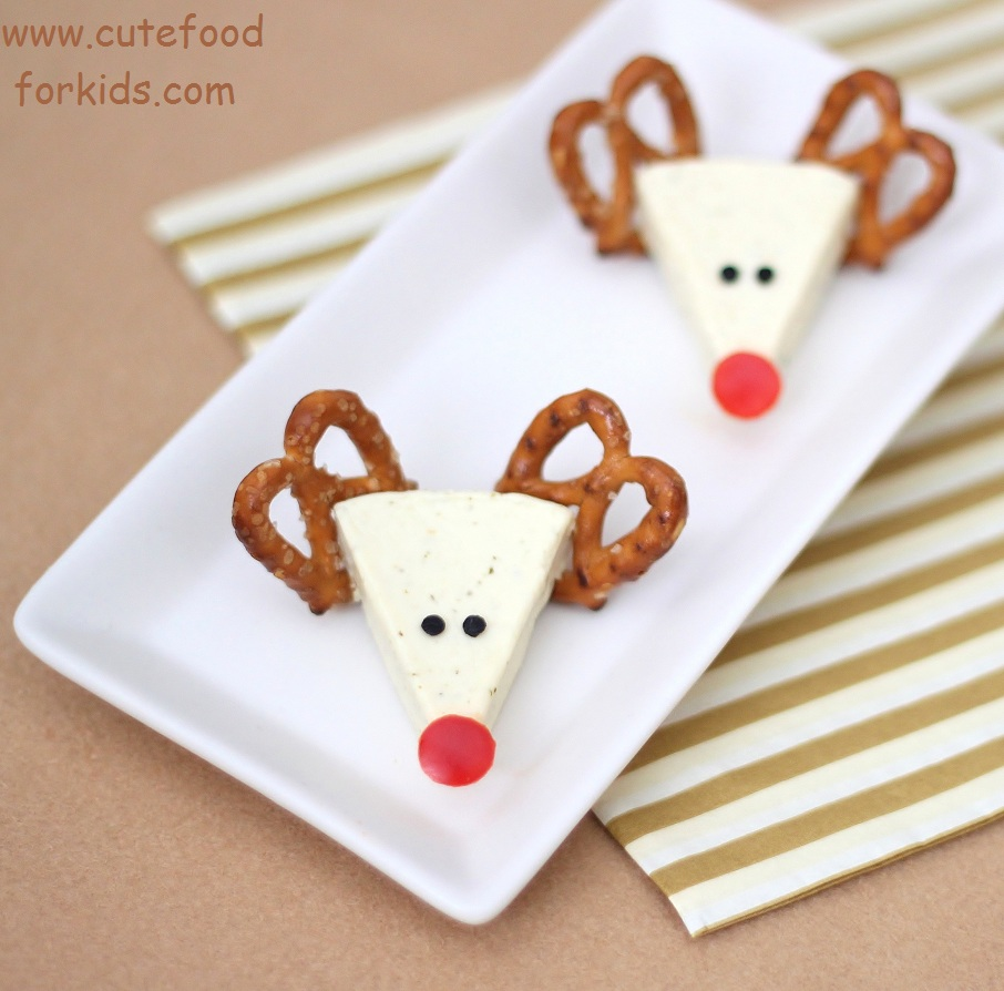 Cute Food For Kids?: Christmas Appetizer Idea: Cheese Reindeers