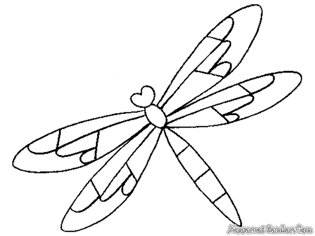 Simple Dragonfly Coloring Pages