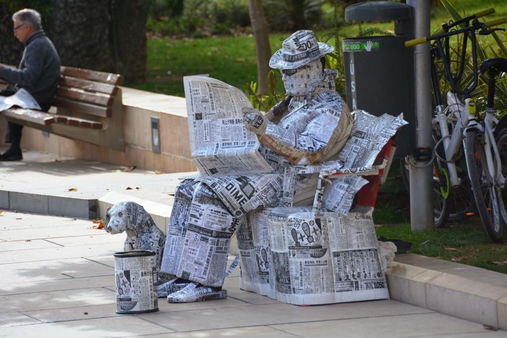 Malaga Newspaper man