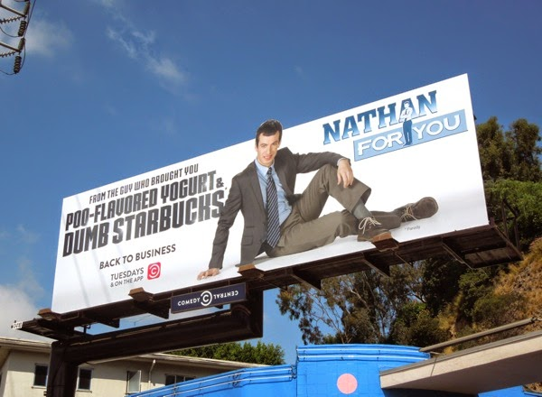 Nathan For You season 2 Comedy Central billboard