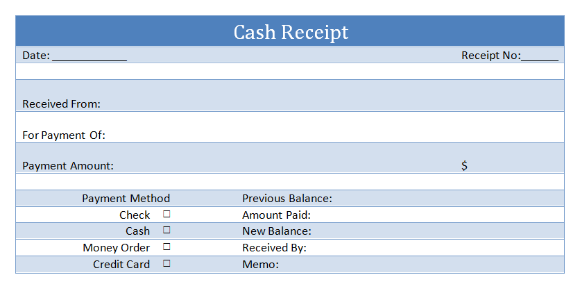 Cash Receipt Sample  Cash Recepit