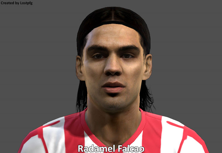 PES 2013 Falcao Face by Lostpfg