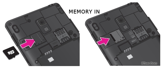 Insert Memory Card Slot LG Optimus L9 P769