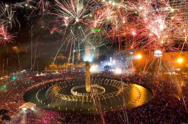 Fuegos Artificiales, año nuevo 2014, Indonesia