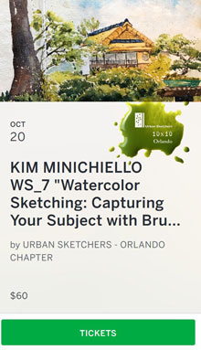 "Kim Mimichiello ""Watercolor Sketching"""
