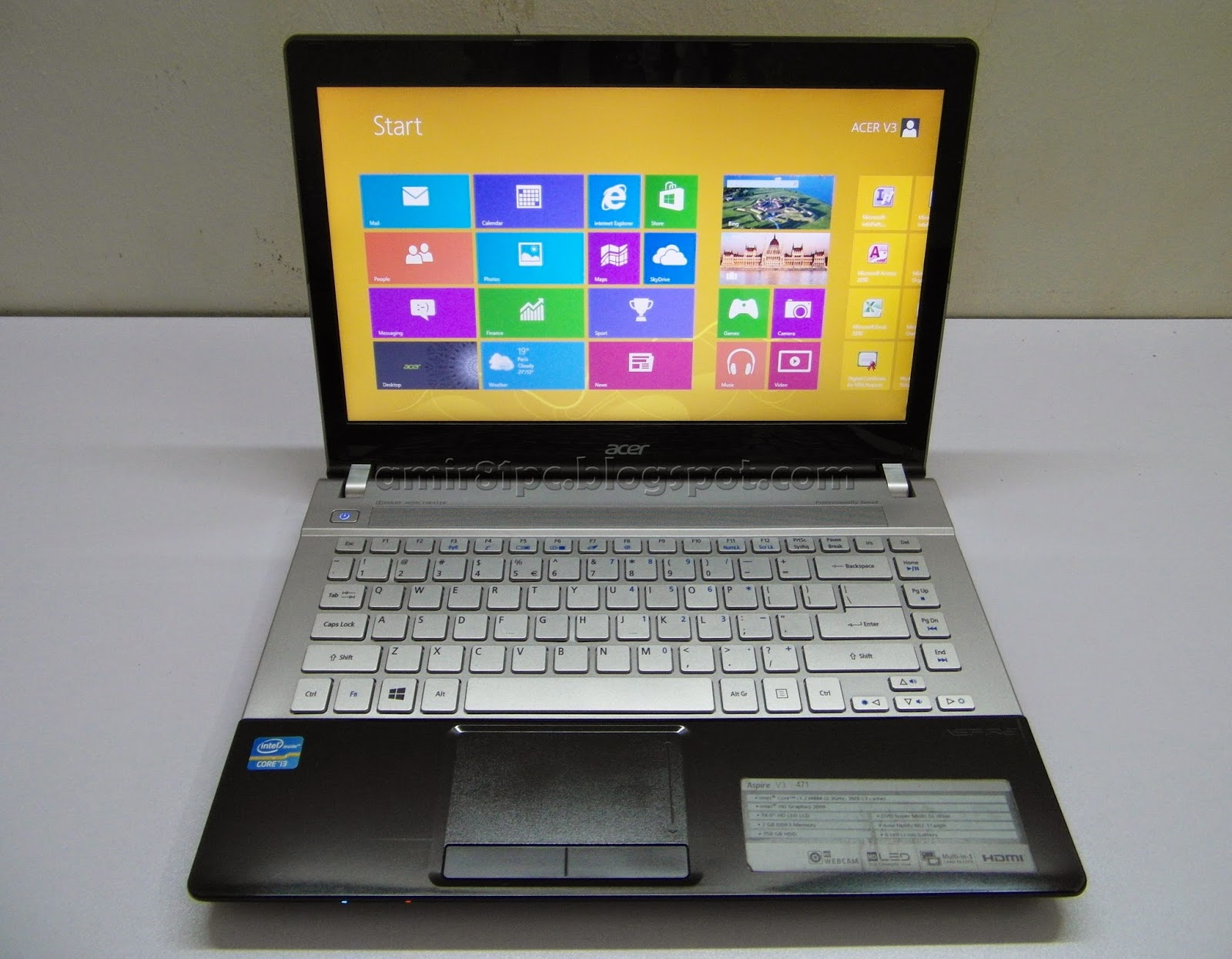 Laptop Acer Aspire V3 471 32342G75 Core I3 RM 1085