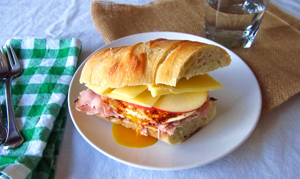 The Best Ham Sandwich with an Egg on Top
