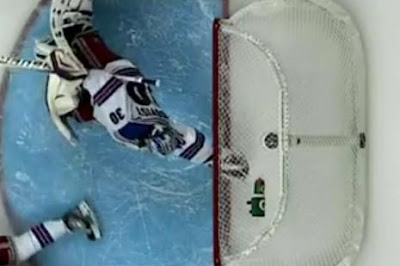 Lundqvist's glove over the red line