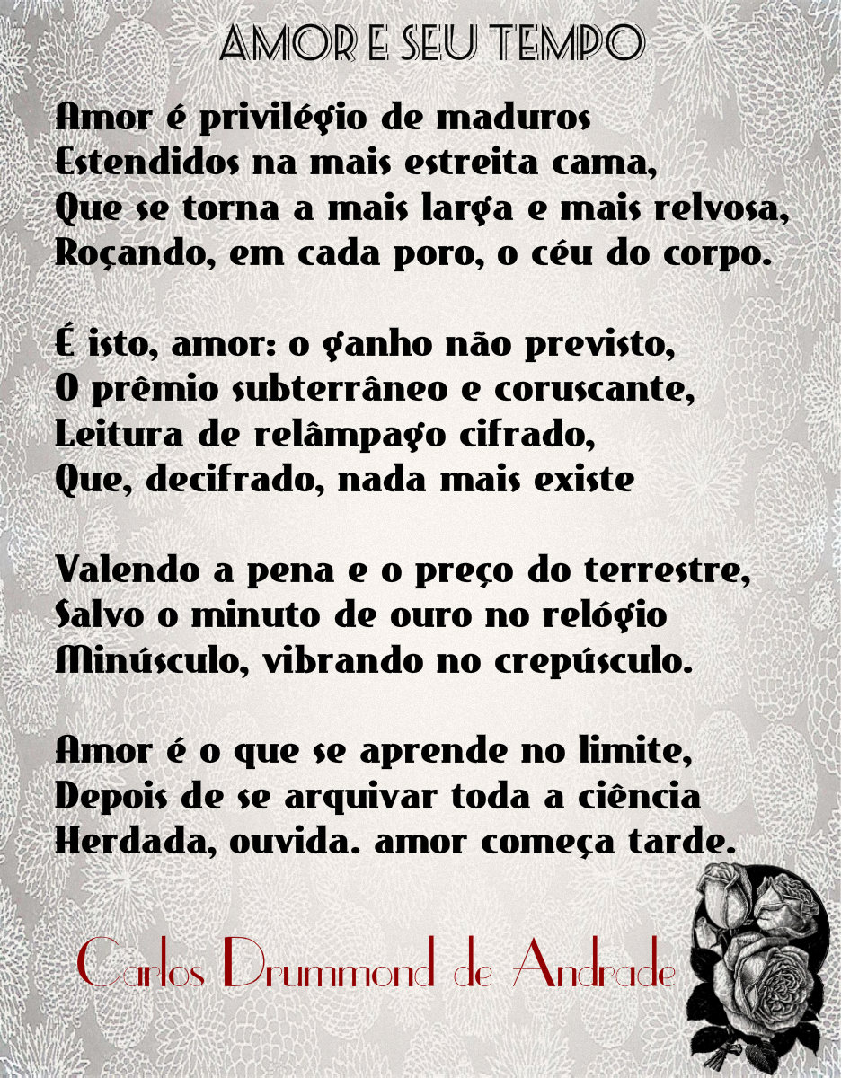 Estrada Aberta Carlos Drummond De Andrade Amor E Seu Tempo