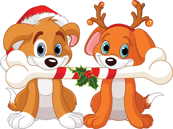 Christmas dogs emoticon