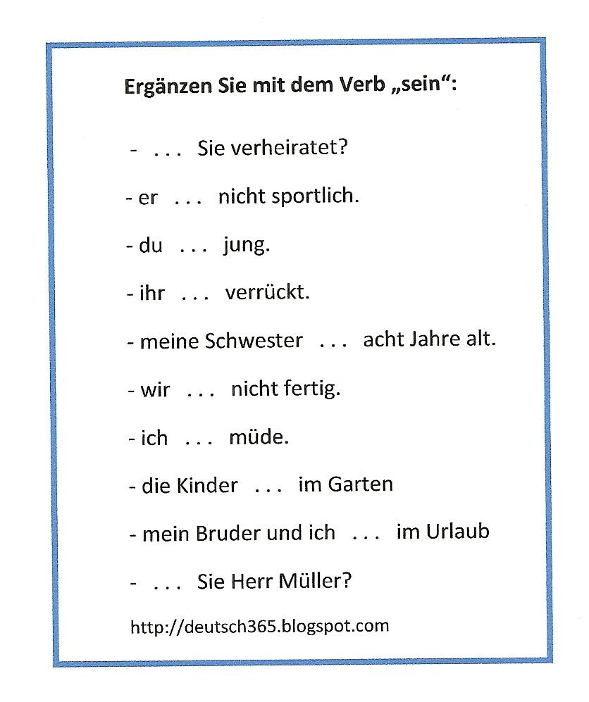 Deutsch: haben & sein (Präsens)