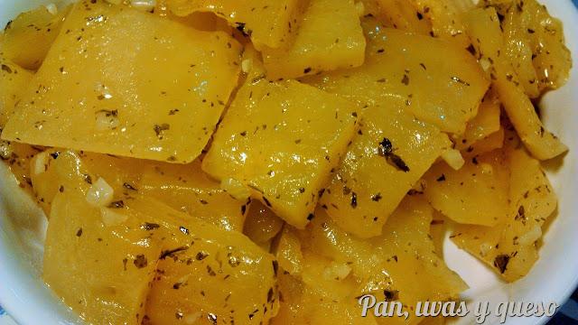 Patatas al ajillo en microondas receta de redina for Comidas hechas en microondas