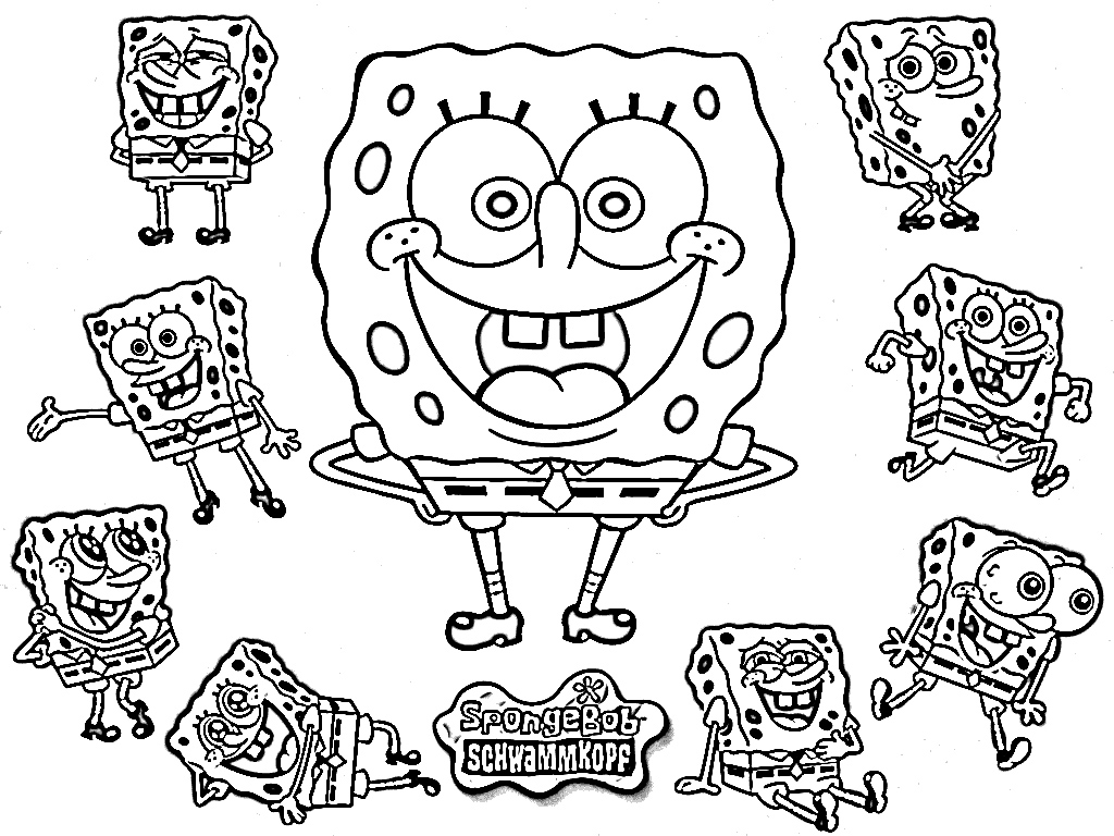 PICTURES OF SPONGEBOB TO COLOR IN