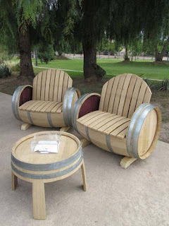 Old Wine Barrel Chair