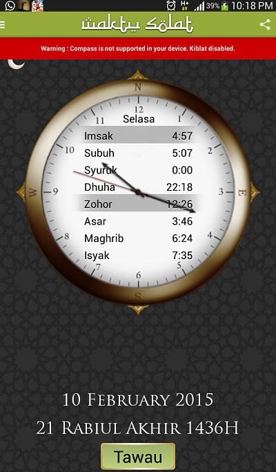 Aplikasi waktu solat