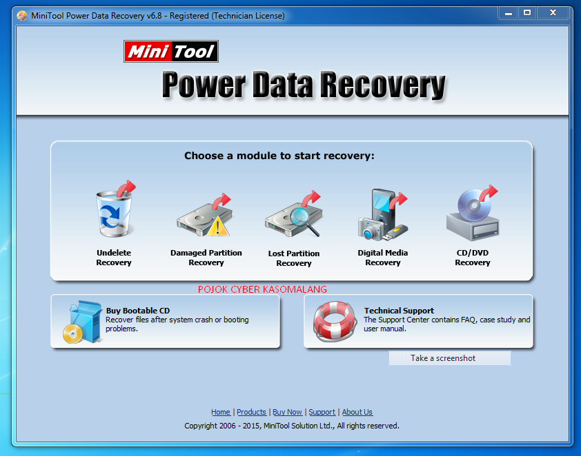 Serial Number MiniTool Power Data Recovery 6.8