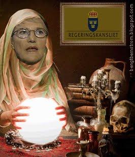 Framtidsminister Kristina Persson under tjänsteutövning