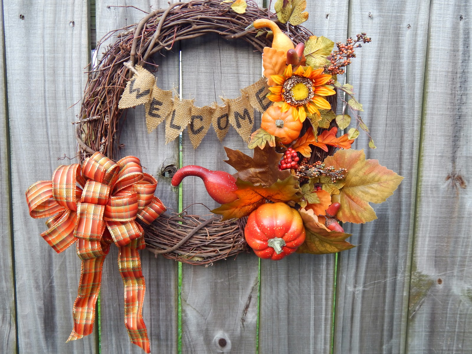 Wreath, Fall Wreath, Door Decoration, Decorating for Fall