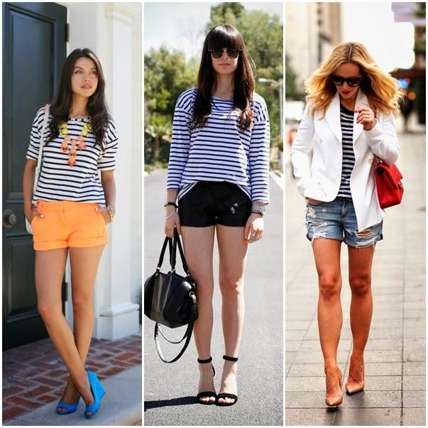 blusa listrada com short