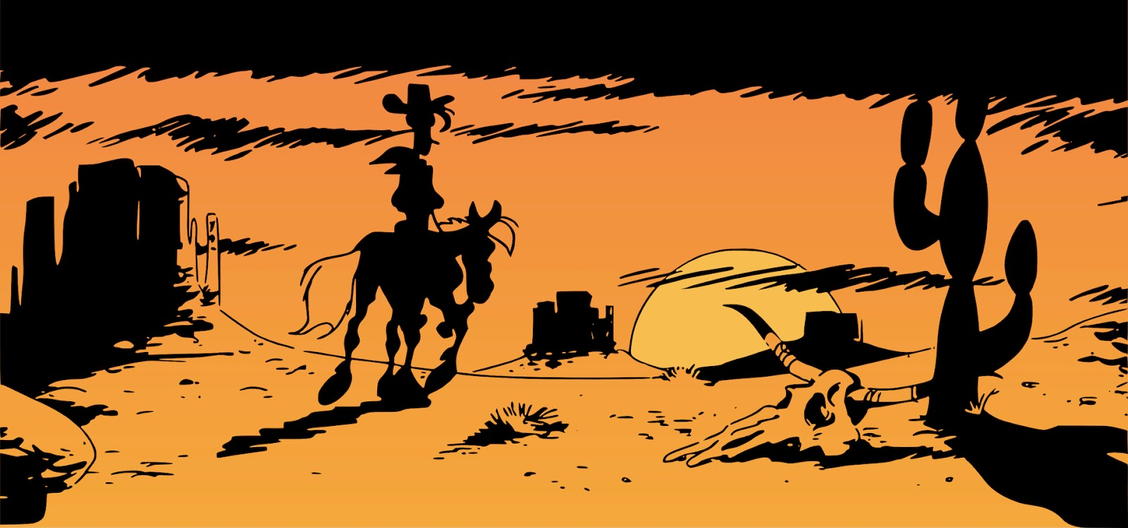 I'm a poor lonesome cowboy and a long long way from home, Lucky Luke