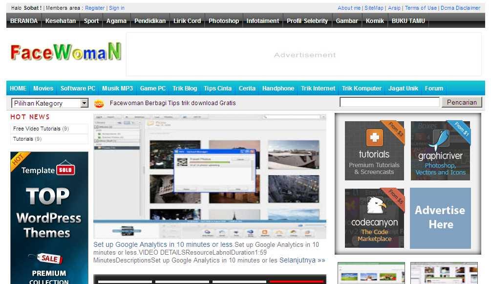 Download Template Iklan Baris Untuk Bog