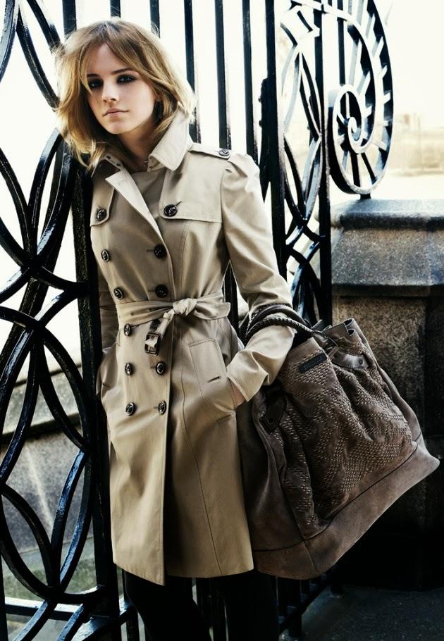 emma watson, burberry, look do dia, hermione granger, moda acessível