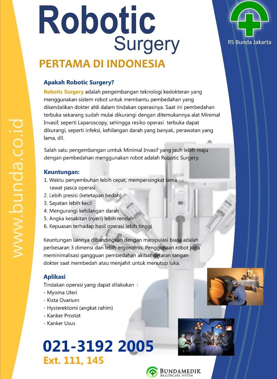 INFORMASI RS Bunda Jakarta : telp 319 22005 ext. 110 & 111
