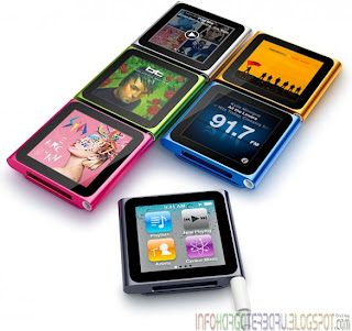 Harga iPod Nano 6th Generation 8 & 16 GB Spesifikasi 2012