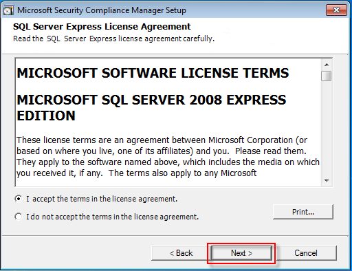 06 Microsoft SQL Server 2008 installation