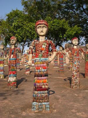 bangle sculpture Nek Chand