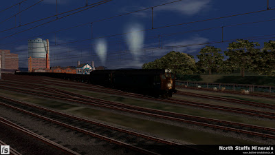 Fastline Simulation - North Staffs Minerals: Target 9 Departs Cockshute Yard, Stoke-on-Trent in North Staffs Minerals a route for RailWorks Train Simulator 2012.