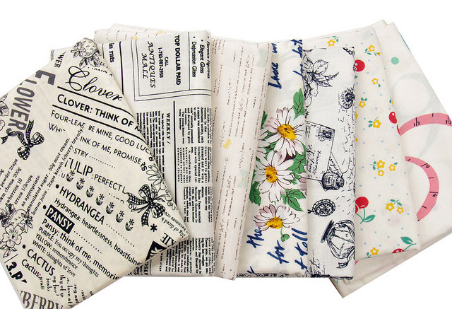 Low Volume/Text Fabric Bundle - Suzuko Koseki - Yuwa Fabrics | Red Pepper Quilts