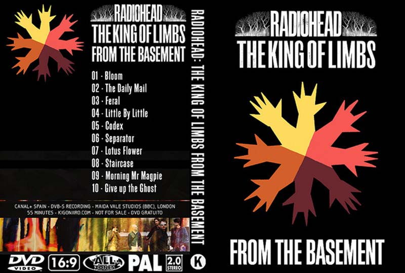 dvd covert radiohead 2011 the king of limbs from the basement
