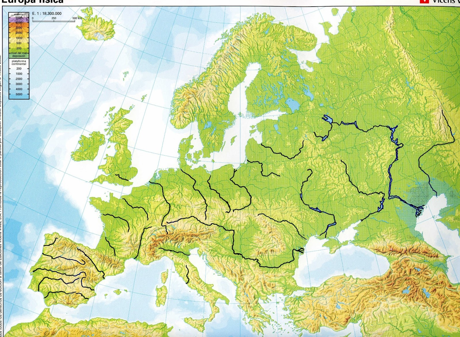 Blank Map Geographic Europe - Blank us map with geographical features