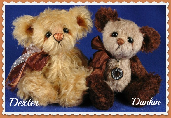 2 New Handmade teddy bears by Laura Lynn