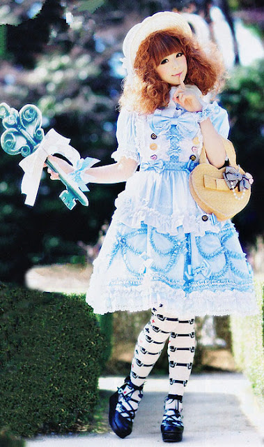 blue sweet lolita dress