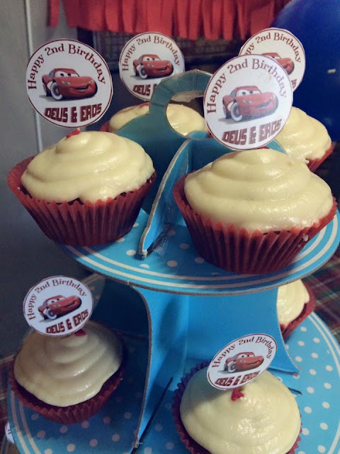My Twins' 2nd Birthday - Red Velvet Cupcake