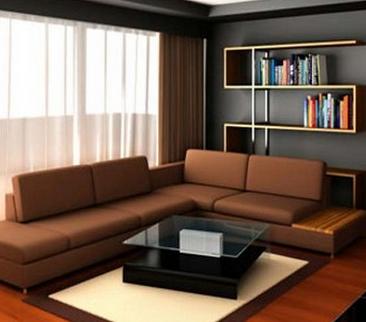 interior rumah minimalis konsep coklat | interior rumah