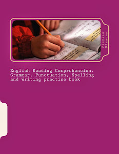 English Reading Comprehension, Grammar, Punctuation, Spelling and Writing practise book