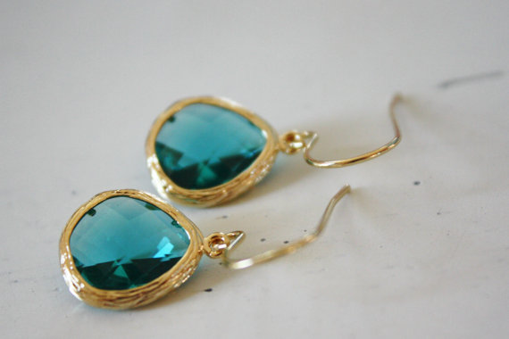 sea green earrings