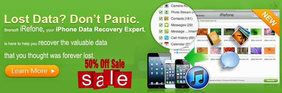 [Big News]Brorsoft's iPhone Data Recovery Entitled iRefone Released - 50% Discount Off