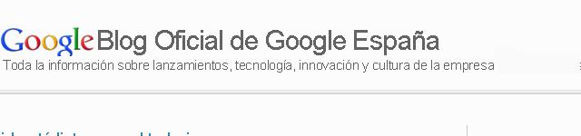 Blog Oficial de Google España