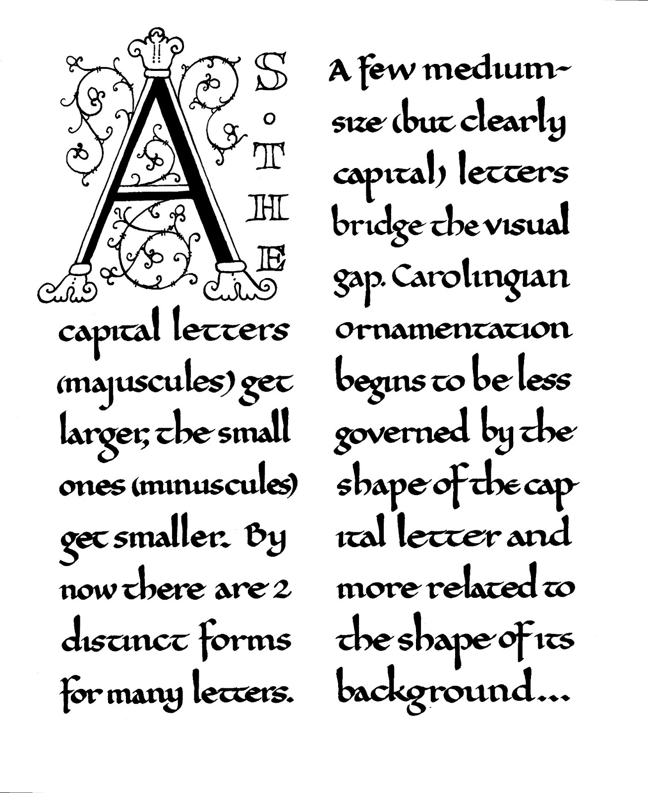 Margaret shepherd calligraphy embedded capitals
