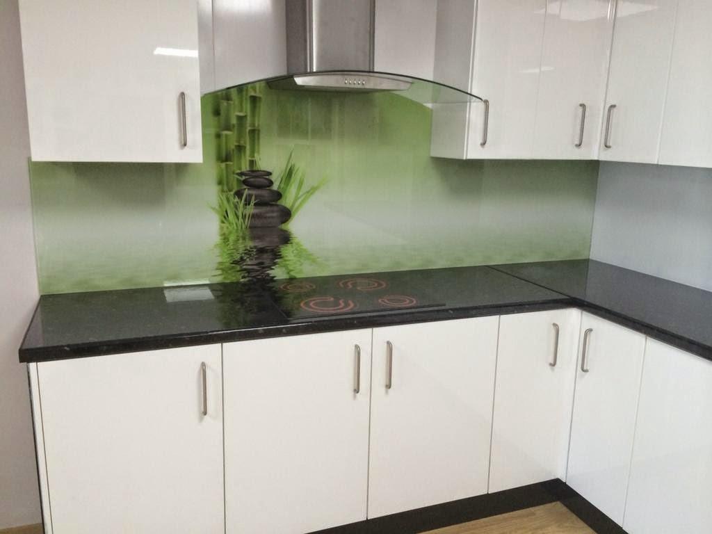 Milimetricas zona de salicadura de las cocinas en - Frente cocina cristal ...