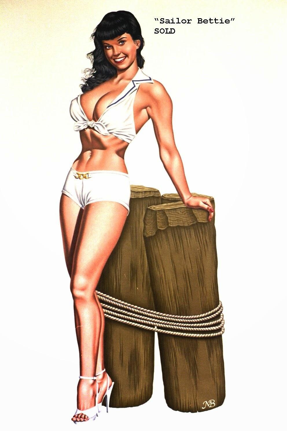 Retro Pin Up, Nude with a Apron Prints - Freeman Elliott